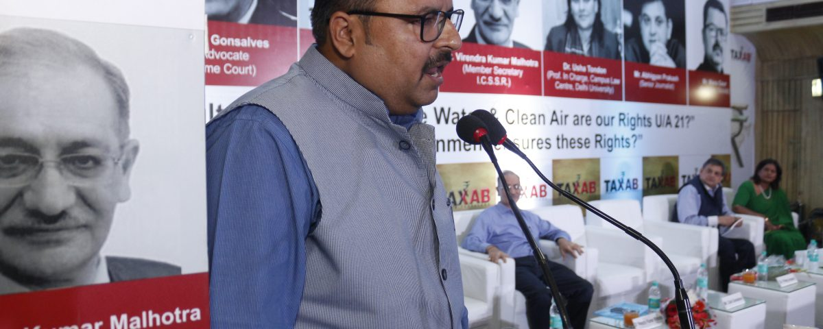 Manu Gaur (President, TAXAB) on Our Rights for Unadulterated Food, Pure Water & Clean Air U/A 21 of Constitution India